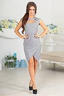 Платье асимметричное с напылением, фото 1
