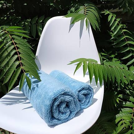 Набор: лицо (50*90) + баня (70*140) Голубой, фото 2