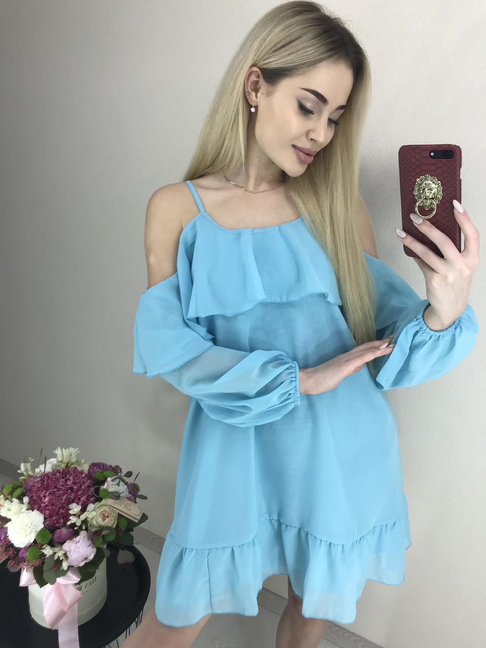 Шифоновое платье мята