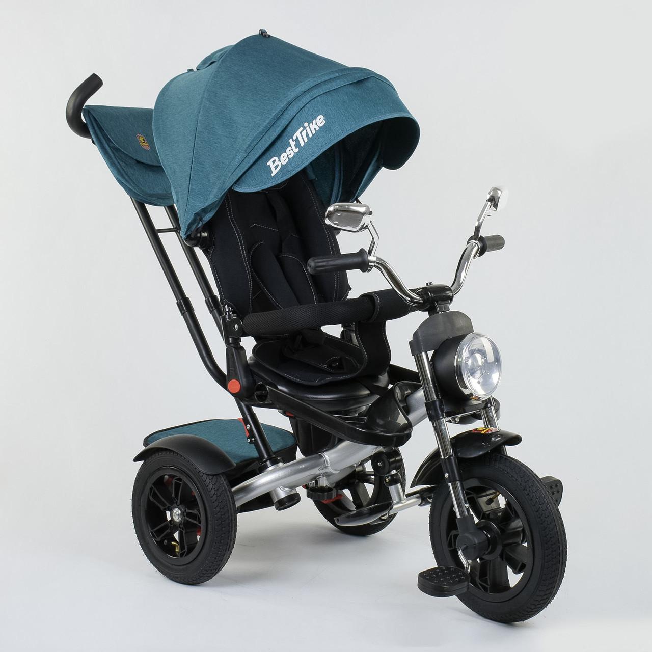 Велосипед 3-х колёсный Best Trike 4490 - 2209, поворотное сиденье, складной руль, русское озвучивание, надувны
