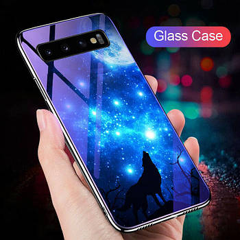 TPU+Glass чехол Fantasy с глянцевыми торцами для Samsung Galaxy S10