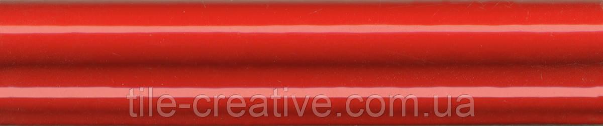 Керамическая плитка Бордюр Багет Граньяно красный15х3х16 BLD011
