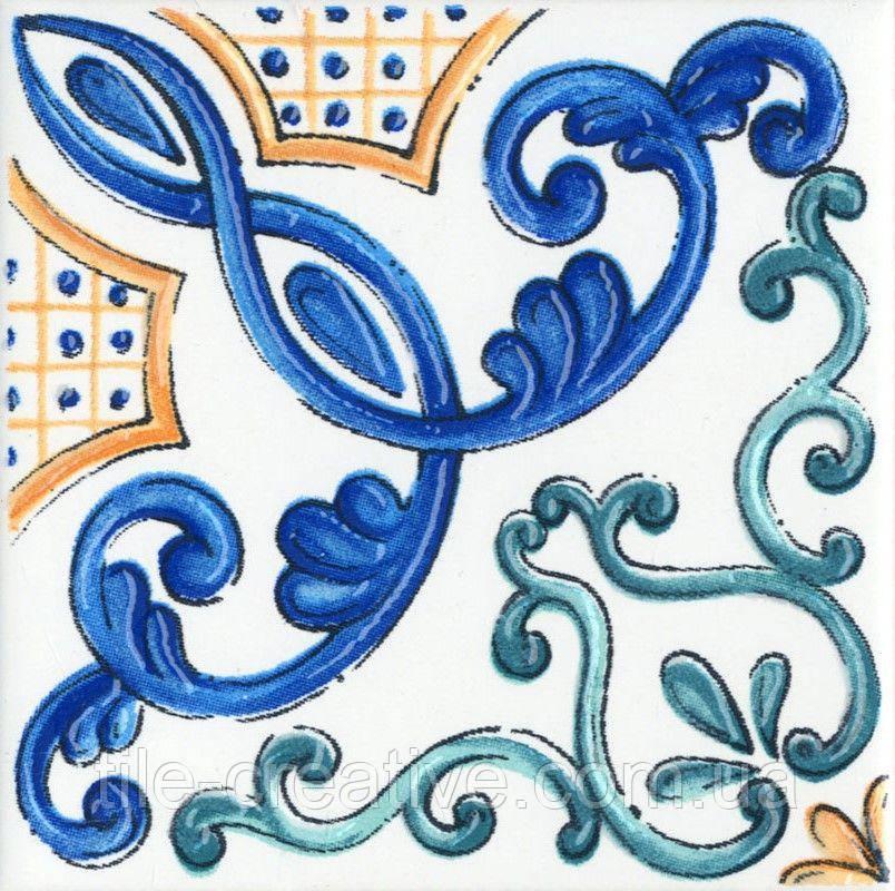 Керамическая плитка Декор Капри майолика20х20х6,9 STG\A454\5232