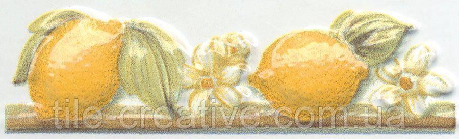 Керамическая плитка Бордюр Капри Лимончики9,9х3х10TLA004