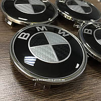 Колпачки в диски bmw карбон черно-серый 68мм