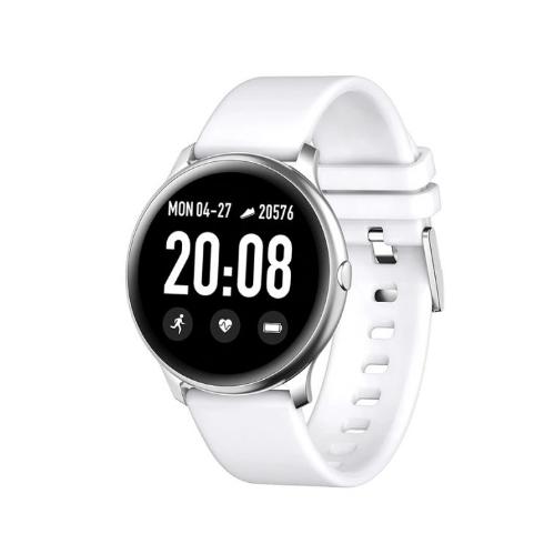 Смарт часы KingWear KW19 c измерением давления и фитнес трекером (Silver)