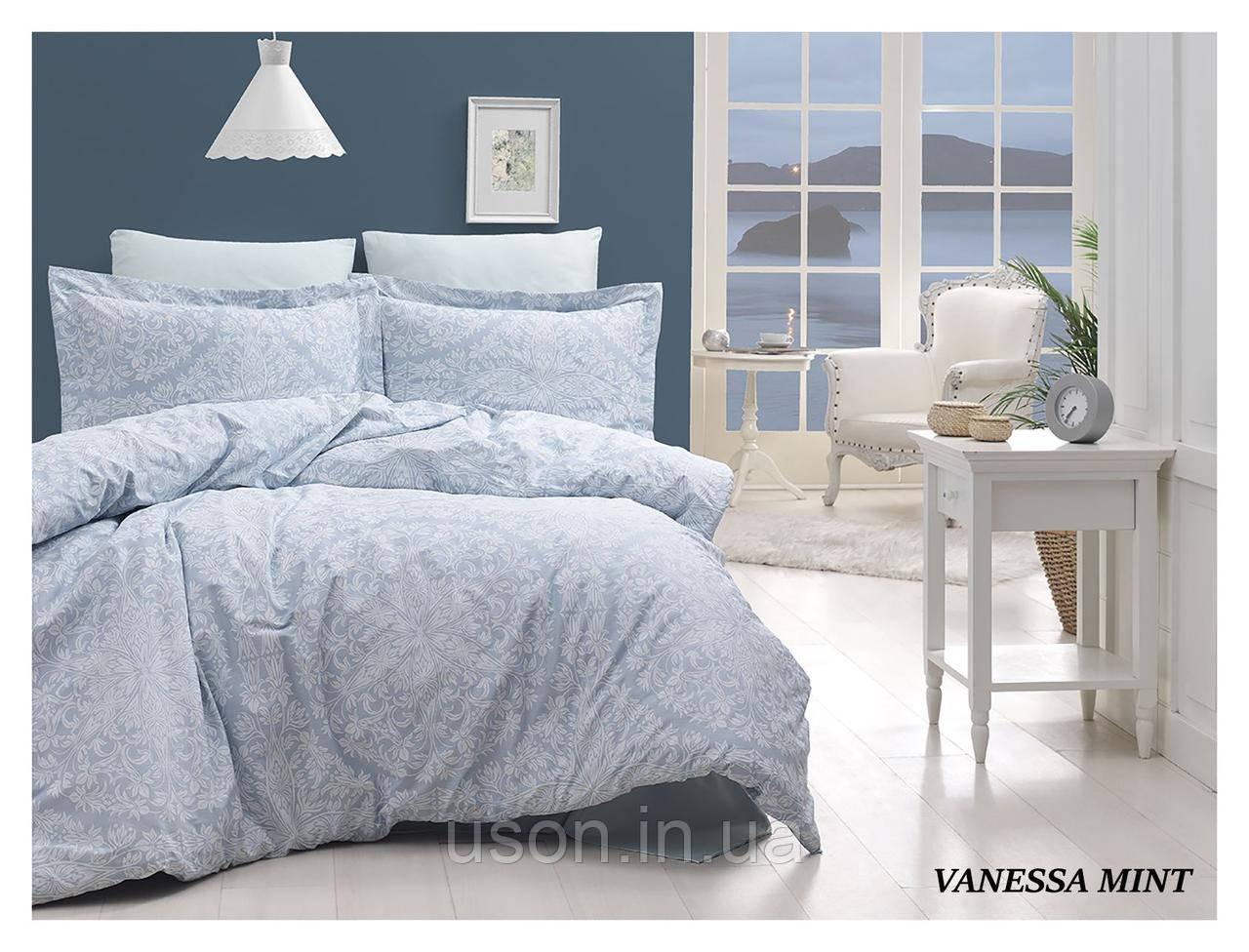 Комплект постільної білизни сатин First Choice Vanessa mint