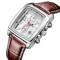 Megir Мужские классические кварцевые часы Megir Matrix 1043, фото 1