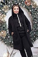 Женский спортивный прогулочный костюм тройка теплая трехнить с начесом48-54р.(2расцв), фото 1
