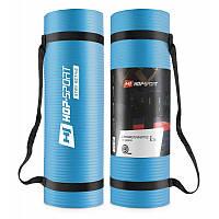 Мат для фитнеса HS-N010GM 1 см light blue Мат для аеробики и йоги для дома и спортзала