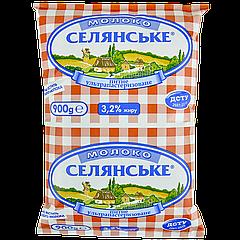 Молоко 3,2% Селянское 0,9л