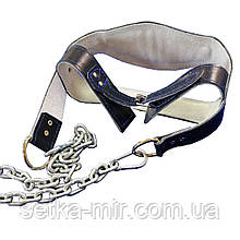 Шлем для накачивания мышц шеи (головная лямка) - кожа