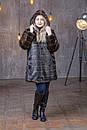 Женская шуба из экомеха в больших размерах с капюшоном и на молнии 39rv99, фото 2