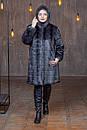 Женская метровая искусственная шуба в больших размерах с капюшоном 39rv04, фото 4