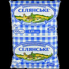 Молоко 2,5% Селянское 0,9л
