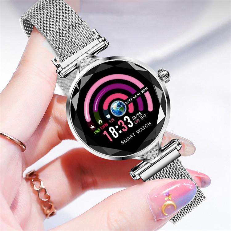 Смарт годинник Lemfo H1 White Steel з виміром тиску і унікальними функціями фітнес трекера