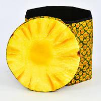 Корзина-пуфик для игрушек ананас