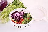 Овощерезка ручная кухонная 2Life 2 in 1 White (n-202), фото 2