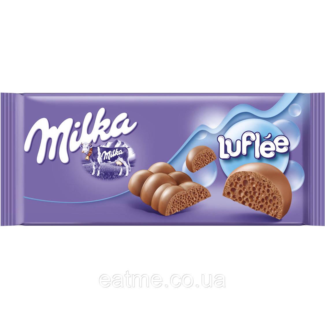 Milka Kuhflecken Пористый молочный шоколад
