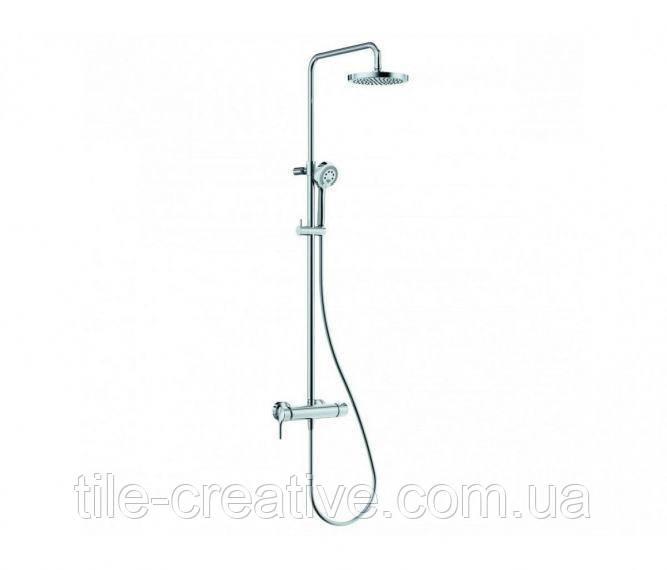 Душевая система с однорычажным смесителем для душа без излива для ванны KLUDI LOGO DUAL 6808505-00