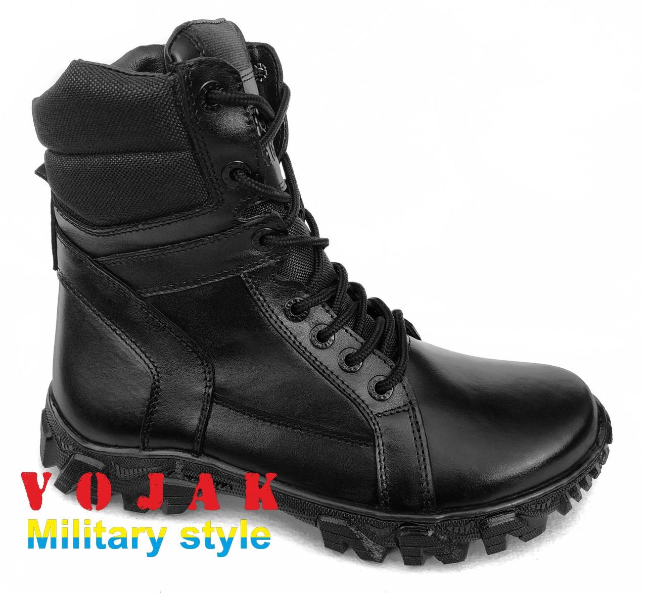 """Ботинки кожаные с увеличеной берцой """"ARS"""" (BLACK)"""