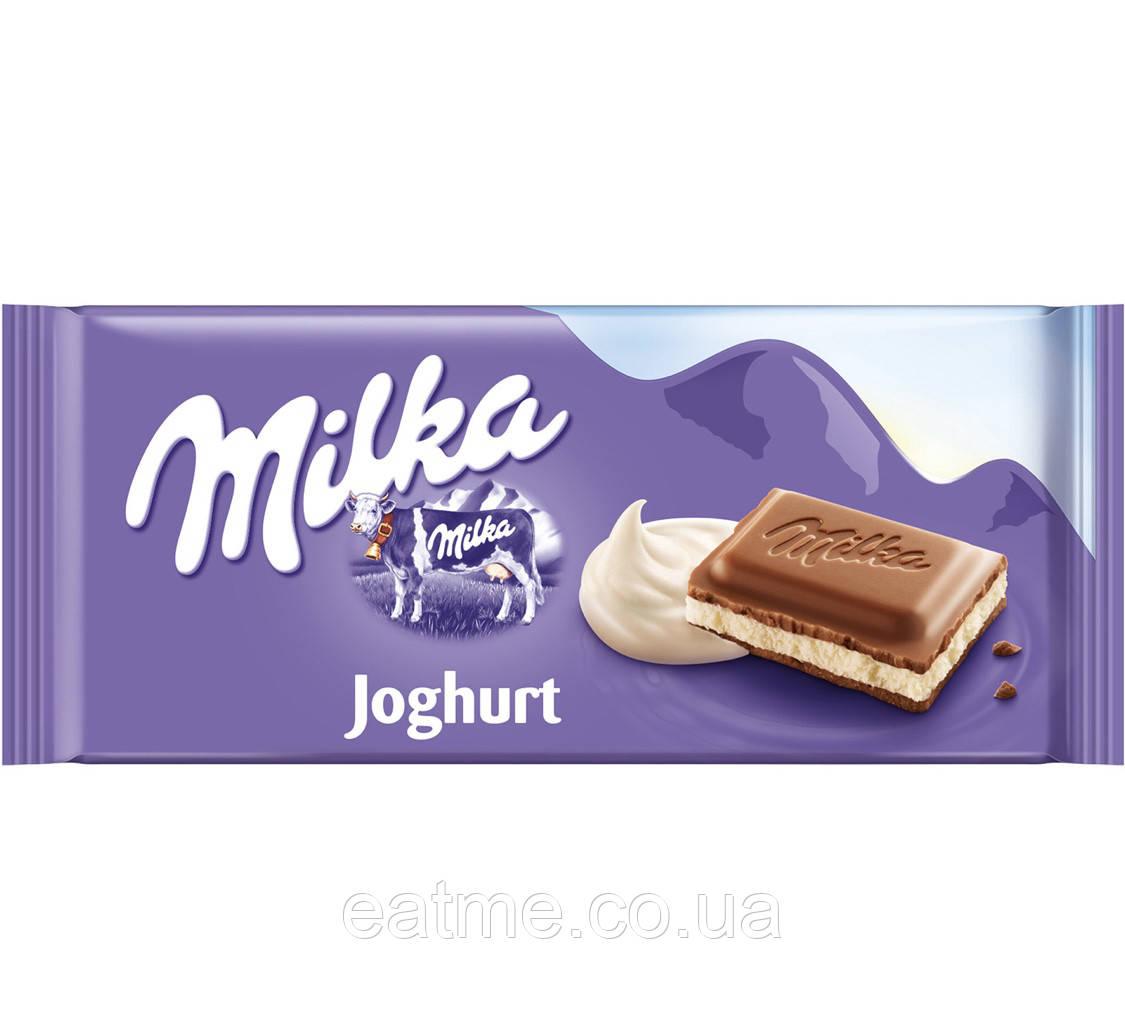 Milka Joghurt Молочный шоколад с йогуртовой начинкой
