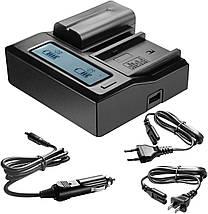 Подвійне зарядний пристрій KingMa NP-FM50 для акумуляторів Sony NP-F550/750/970., фото 3
