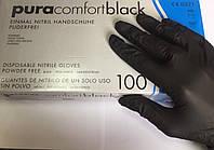 Перчатки нитриловые чёрные 100шт