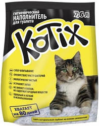 Силикагелевый наповнювач для котячого туалету Kotix 7.6 л