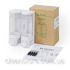 Дозатор жидкого мыла универсальный Rixo Lungo SW006W, фото 3
