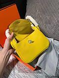 Сумка женская от Эрмес Lindy 20 cм натуральная кожа, фото 8