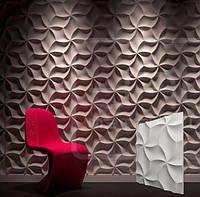 """Гипсовая 3d панель для стен """"Оригами"""" (декоративная стеновая 3д панель)"""