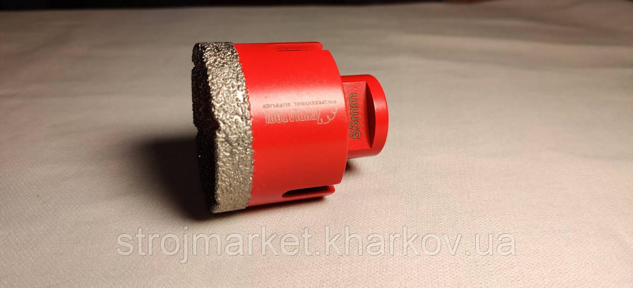 Алмазная коронка вакуумного спекания 55 мм Diatool (М14) УШМ