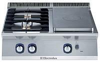 Плита газовая со сплошной поверхностью концентрического нагрева, 1/2 модуля + 2 горелки