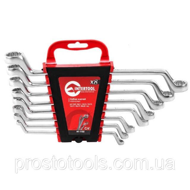 Набор ключей накидных 8ед 6-22 мм Intertool HT-1102