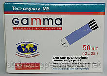 Тест-полоски для глюкометра Gamma MS №50 Mini, Sreaker (2х25 шт).