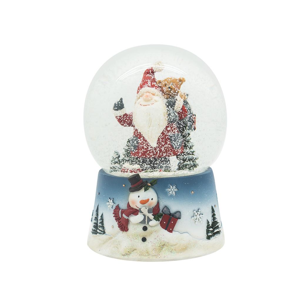 Шар Музыкальный снежный Санта 14см 109239