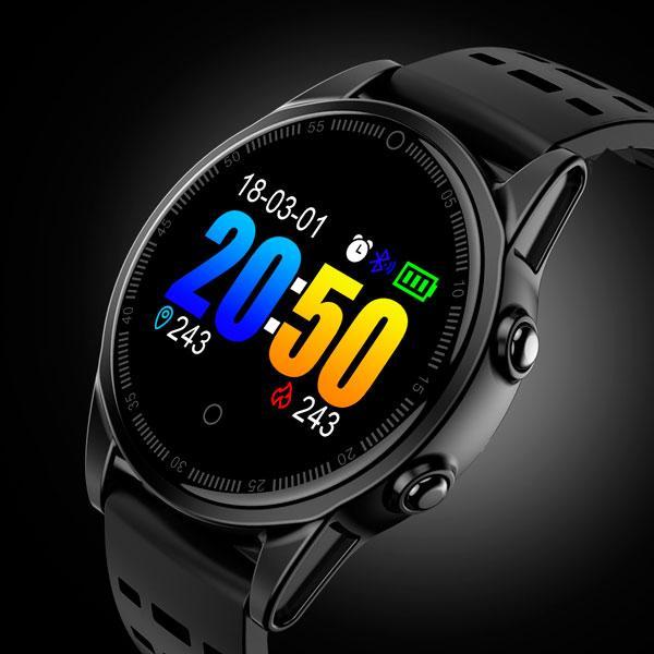 UWatch Умные часы Smart R13 5050 UWatch Black водостойкие