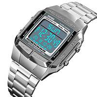 Skmei Мужские спортивные кварцевые часы Skmei Illuminator Silver 1381