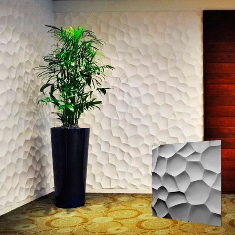 """Гипсовая 3d панель для стен """"РАКУШКИ"""" (декоративная стеновая 3д панель)"""