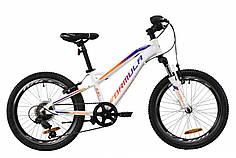 """Велосипед 20"""" Formula BLACKWOOD 1.0 2020 (бело-фиолетовый с оранжевым)"""
