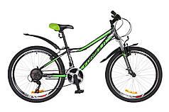 """Велосипед 24"""" Formula FOREST AM 14G Vbr St с крылом Pl 2018 (черно-зеленый (м))"""