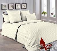 Комплект постельного белья двуспальный  евро размер ТМ TAG R0905 Бежевый