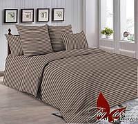 Комплект постельного белья двуспальный  евро размер ТМ TAG R0905 Коричневый