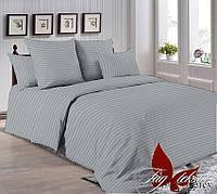 Комплект постельного белья двуспальный  евро размер ТМ TAG R0905 Серый