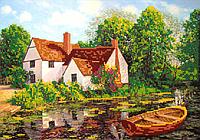 Набор для вышивки бисером POINT ART Домик у озера, размер 30х21 см, арт. 1299