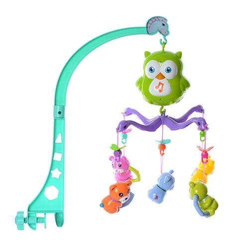 Карусель детская с подвесками погремушками 602-24 музыкальные и световые эффекты