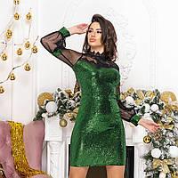 """Модное женское вечернее, новогоднее блестящее платье """"Соната"""", фото 1"""