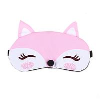 """Удобная маска для сна """"Лисичка розовая"""" Повязка на глаза детская. Наглазная маска женская. Маска для сну"""