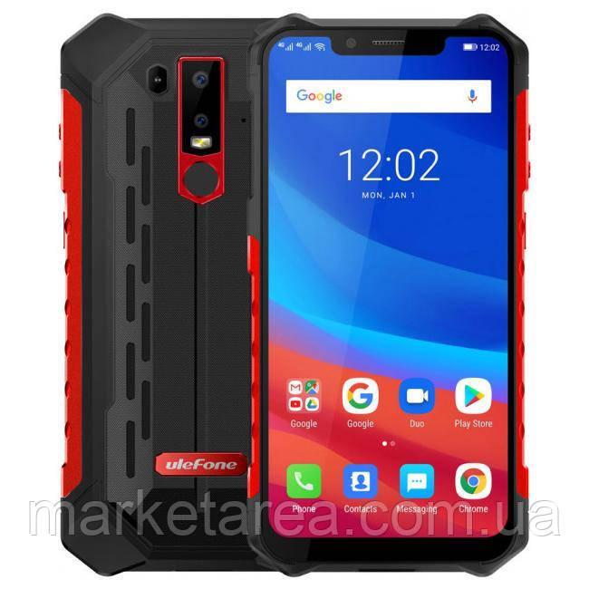 Смартфон защищенный красный с функцией нфс и беспроводной зарядкой на 2 симки UleFone Armor 6S red 6/128 гб